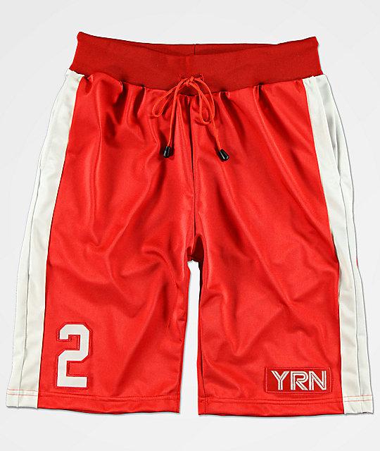 10614fa181 YRN shorts de chándal en rojo y blanco ...