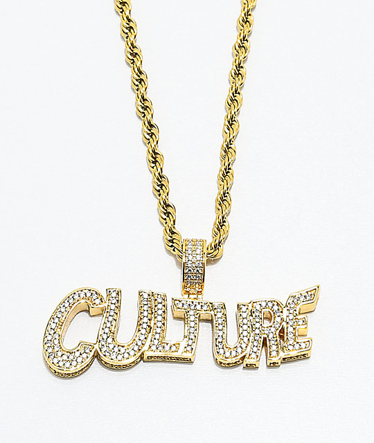 Yrn x the gold gods culture gold chain necklace zumiez yrn x the gold gods culture gold chain necklace aloadofball Images