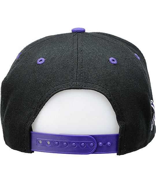Young & Reckless Block Black & Purple Snapback Hat