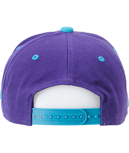 Young & Reckless Block Purple & Turquoise Snapback Hat