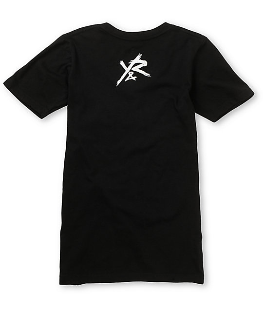 Young & Reckless Circle Black V-Neck T-Shirt