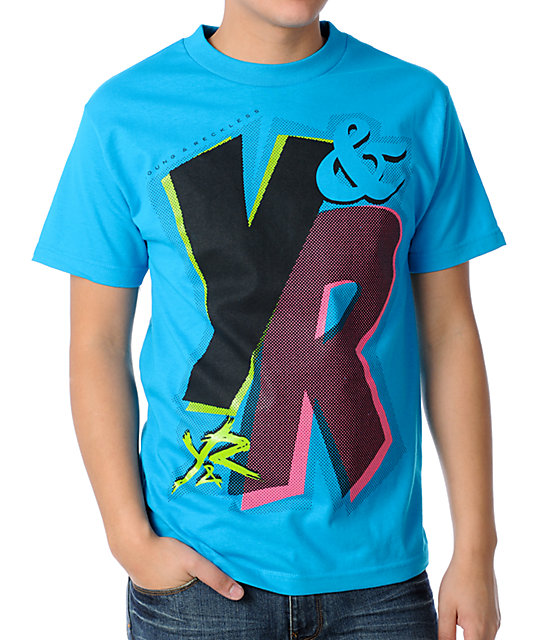 Young & Reckless Comic Turquoise T-Shirt
