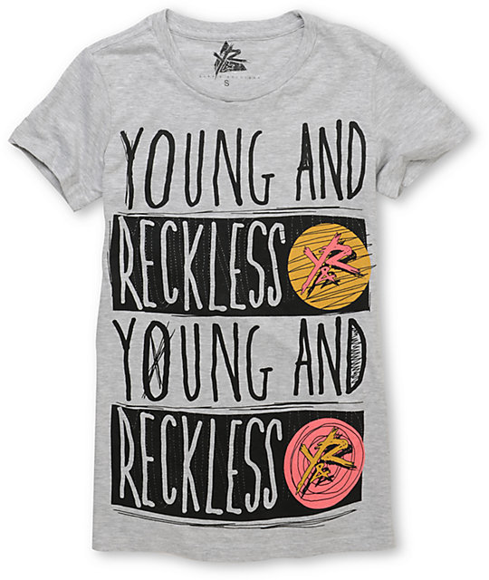 Young & Reckless Flood Fill Grey T-Shirt