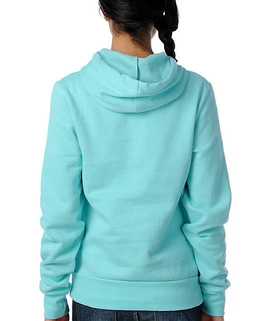 Young & Reckless Hearts Fall Aqua Pullover Hoodie