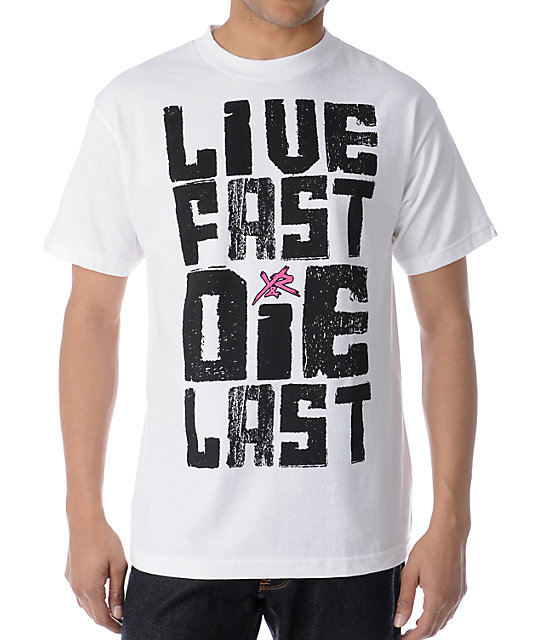 Young & Reckless Live Fast Die Last White T-Shirt