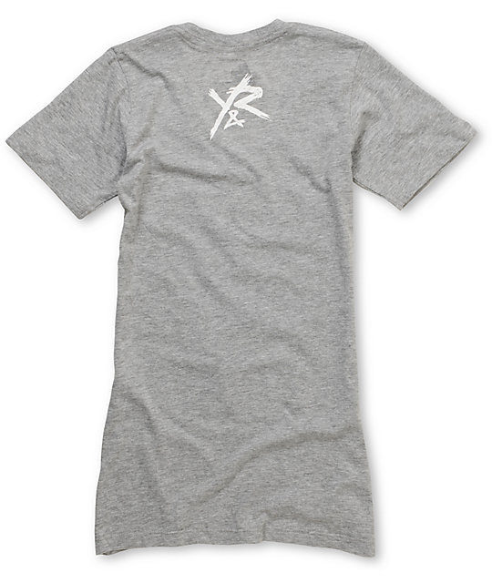 Young & Reckless Square Heather Grey V-Neck T-Shirt