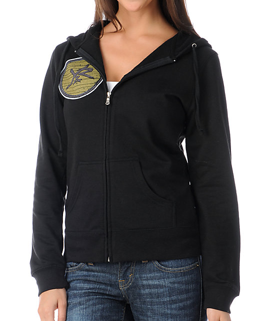 Young & Reckless Youth Crest Black Zip Up Hoodie