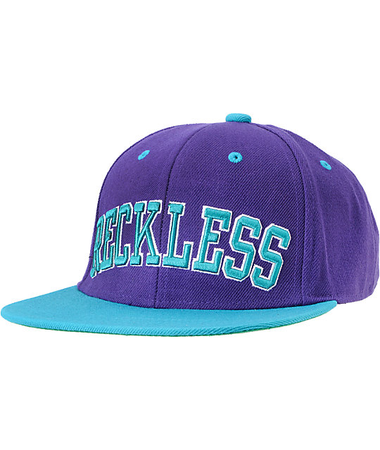 0c1bd9fd6f302 ... sweden young reckless block purple turquoise snapback hat cedc4 7fe79