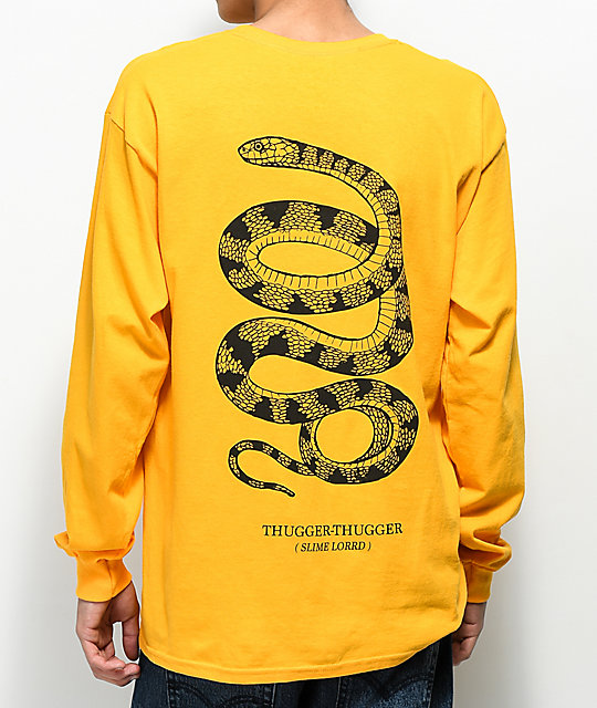 Young Thug Thugger Snake Yellow Long Sleeve T-Shirt ...
