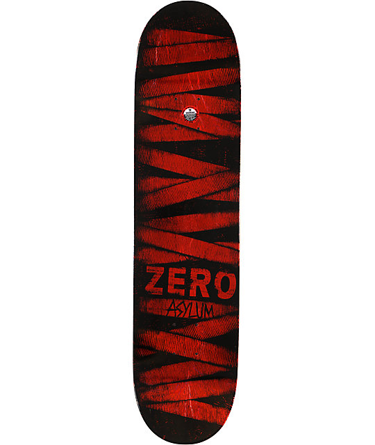 "Zero Asylum Red Foil 7.75""  Skateboard Deck"