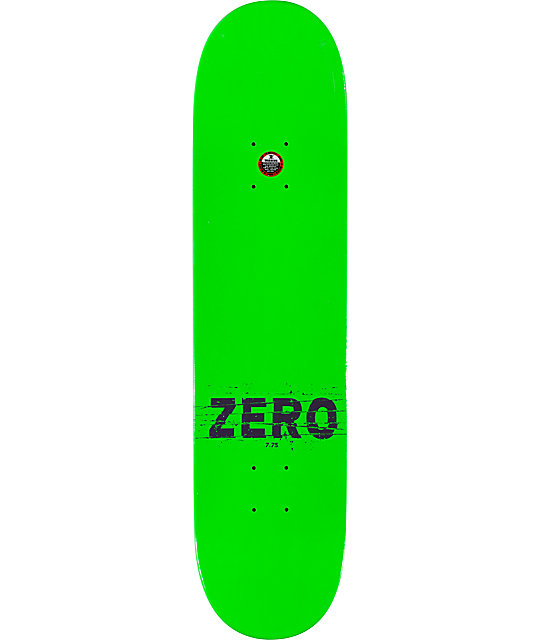 "Zero Cutter Green 7.75""  Skateboard Deck"