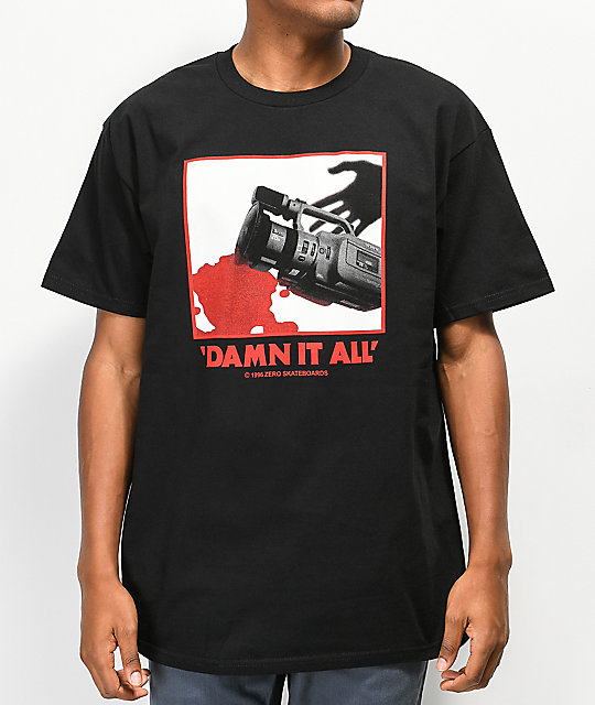 Zero Damn It camiseta negra