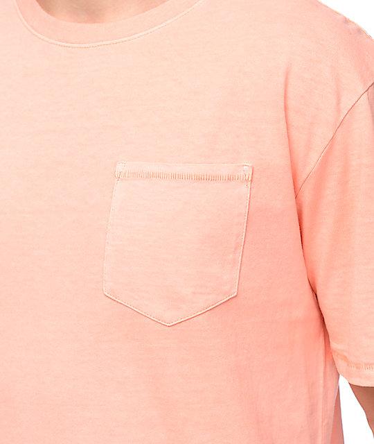 95d06a46610813 ... Zine Alta Peach Pigment Dyed Pocket T-Shirt