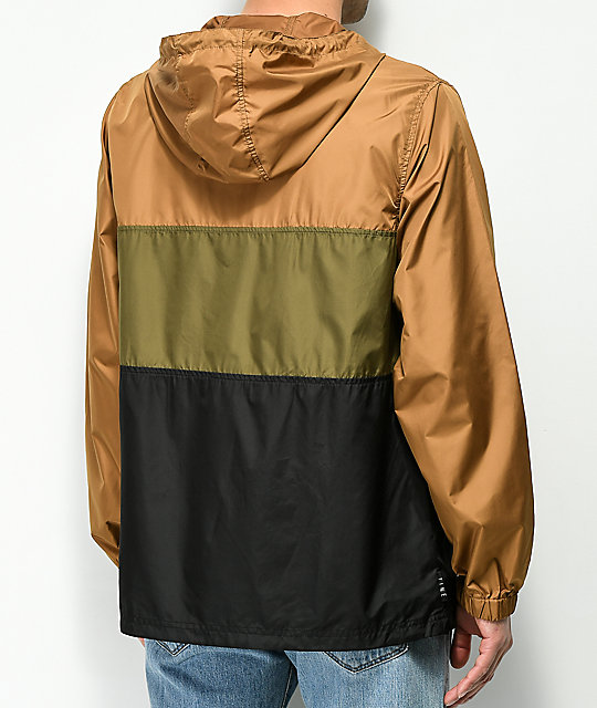 Zine Barry Brown, Olive & Black Windbreaker Jacket