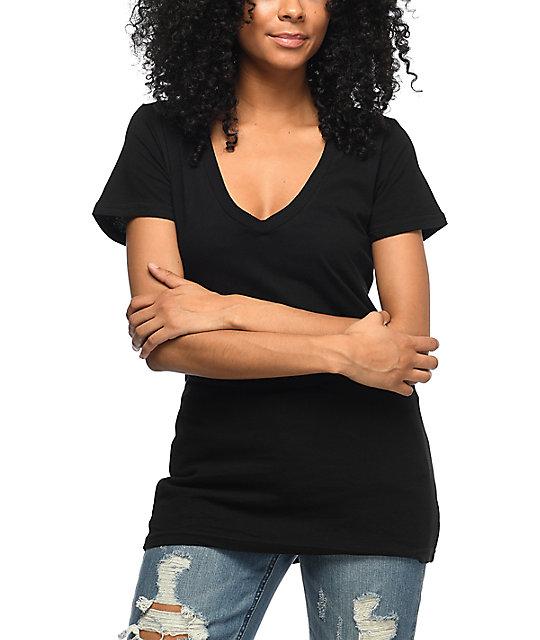 3c708ba8 Zine Beta V-Neck Black T-Shirt | Zumiez
