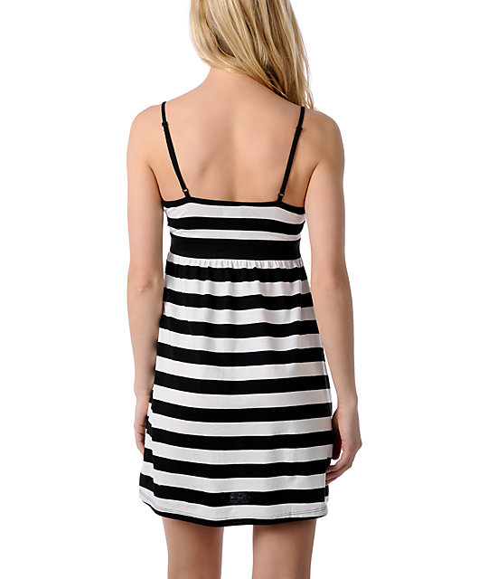 Zine Black & White Tank Top  Dress Cover Up