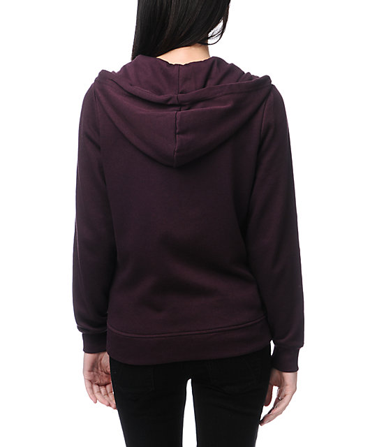 Zine Blackberry Purple Zip Up Hoodie