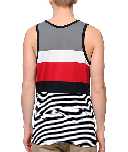 Zine Block Party Red Stripe Tank Top
