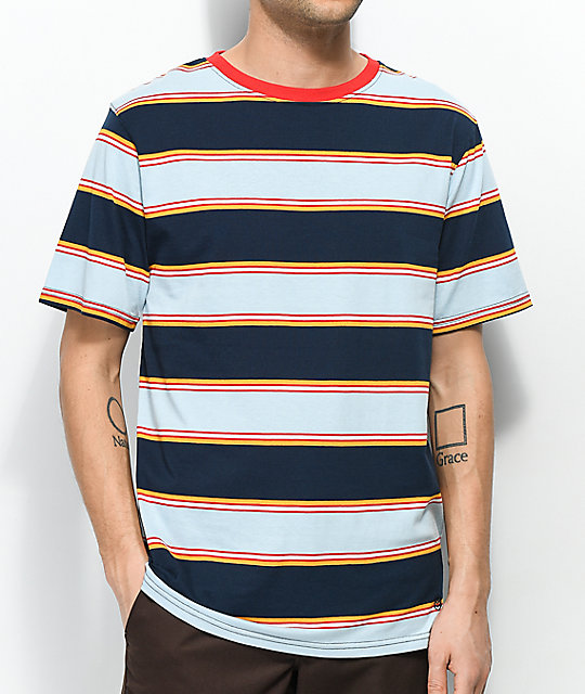 Zine Bonus Navy & Light Blue Striped T-Shirt ...