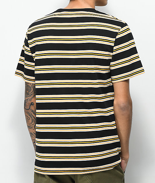 Zine Bonus Stripe Black & Tan T-Shirt