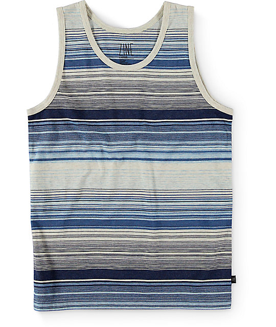 Zine Boys Skinny Jeans Blue Stripe Tank Top