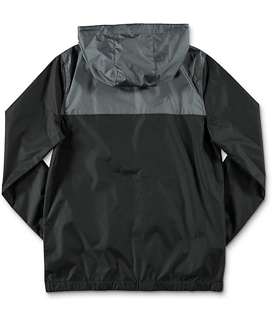 Zine Boys Sprint Black & Charcoal Windbreaker Jacket