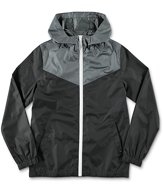 0497e0adcb15 Zine Boys Sprint Black   Charcoal Windbreaker Jacket