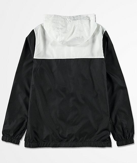 f9c33196b24c ... Zine Boys Sprint White   Black Windbreaker Jacket
