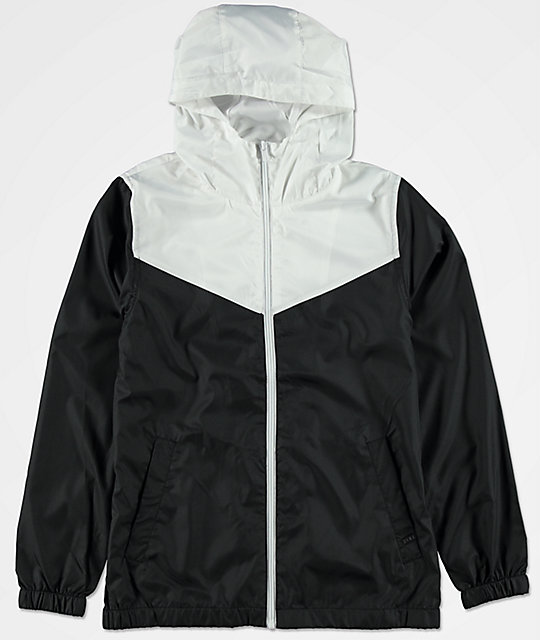 Zine Boys Sprint White & Black Windbreaker Jacket