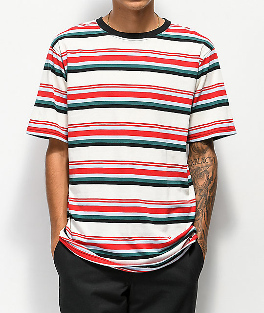 3882faa3b7 Zine Breaker Red, Blue & White Striped T-Shirt | Zumiez