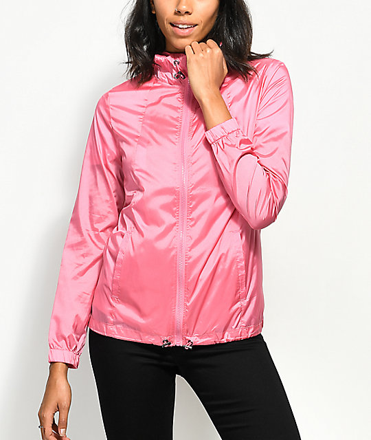 Zine Calla Pink Iridescent Windbreaker Jacket