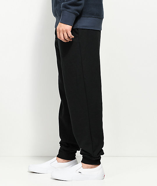 Zine Cap Black Fleece Jogger Pants