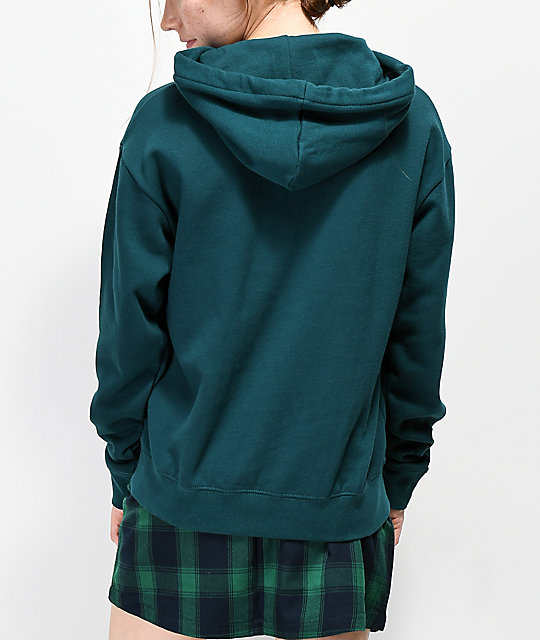Zine Clouis Inset Taped Green Hoodie