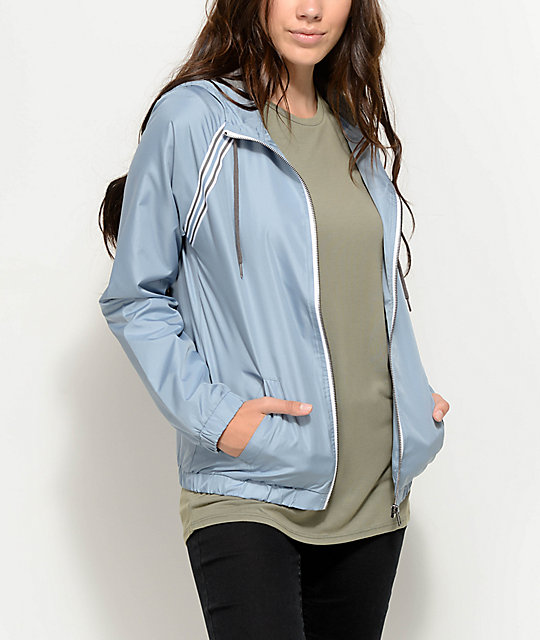 Zine Cody Light Blue Lined Windbreaker Jacket