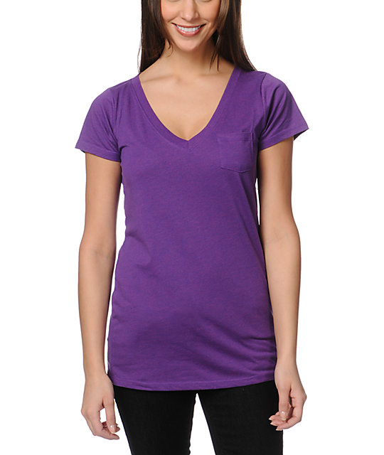 Zine Deep Purple V-Neck T-Shirt