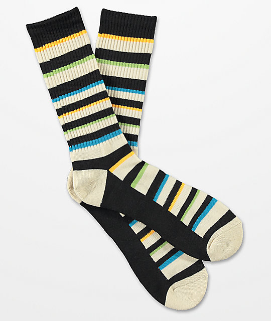 Zine Destination Khaki Crew Socks