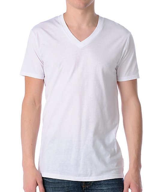 Zine Deuce White V-Neck T-Shirt