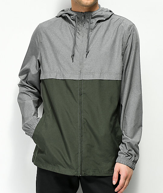 Zine Eddie Grey & Green Windbreaker Jacket
