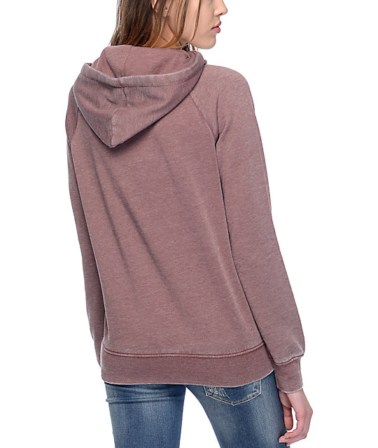 Zine Fahy Rose Taupe Womens Pullover Hoodie