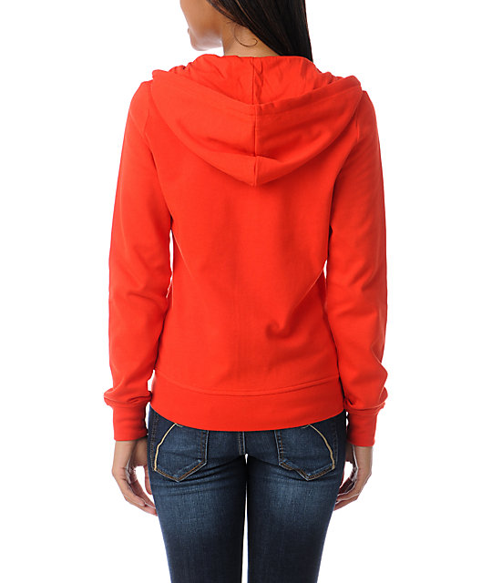 Zine Fiery Red Zip Up Hoodie