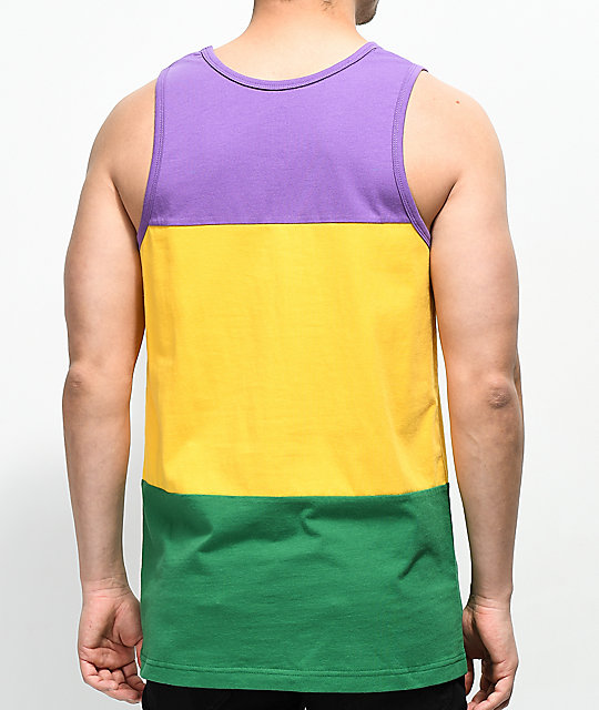 Zine Flavor Purple, Yellow & Green Tank Top