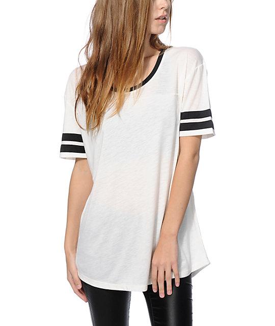 Zine Francis camiseta de fútbol americano blanca y negra ... 57fb75000c1