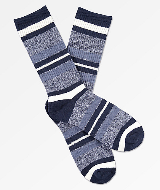 Zine Get Down Crown Blue Crew Socks