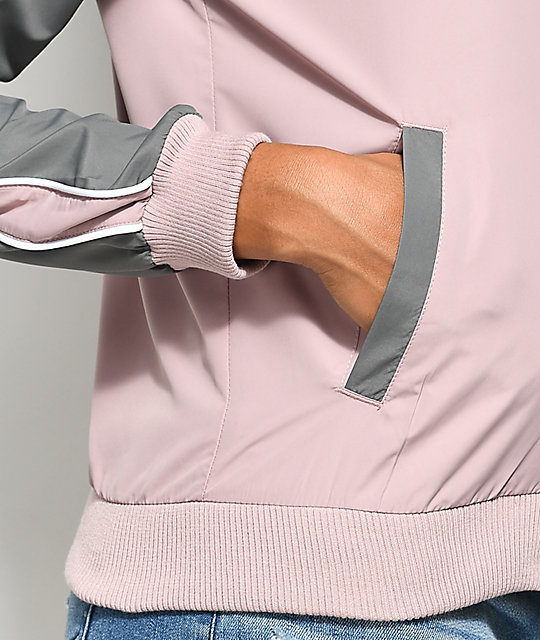 Zine Harlow Mauve & Grey Colorblock Jacket