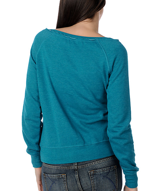 Zine Heather Everglade Wide Neck Sweatshirt