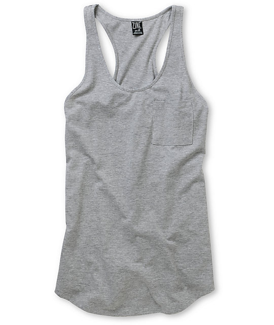Zine Heather Grey Tank Top