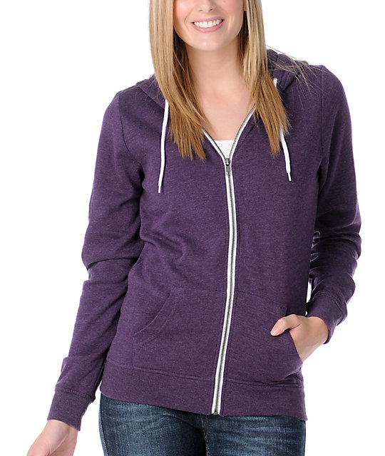 Zine Heather Purple Hoodie