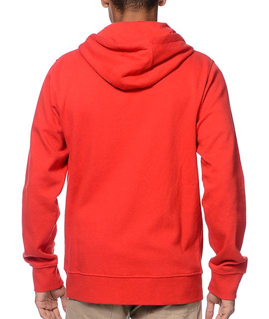 e39fd61f524 ... Zine Hooligan True Red Zip Up Hoodie
