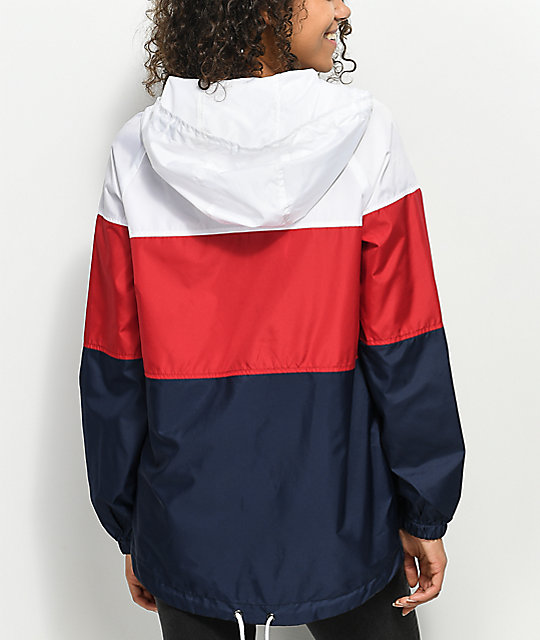 Zine Jacqui Red White Blue Windbreaker Jacket Zumiez