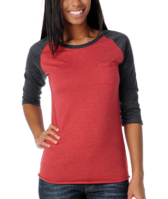 Zine Jester Red Basic Baseball Tee